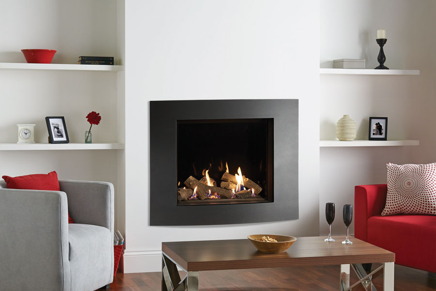 Riva2 750 Verve XS Black Glass at Sussex Fireplace Gallery