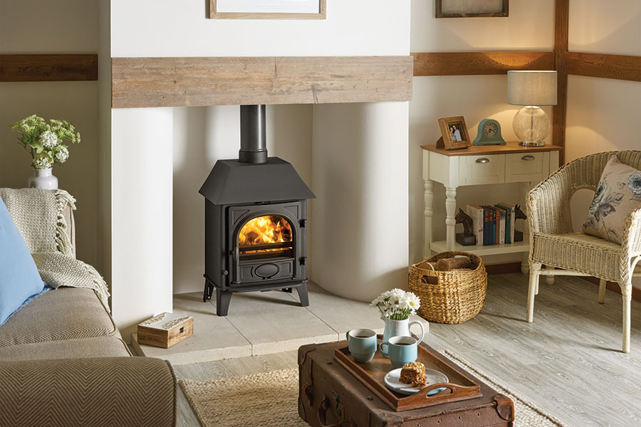Stockton 5 with Canopy Woodburning Stove Sussex Fireplace Gallery