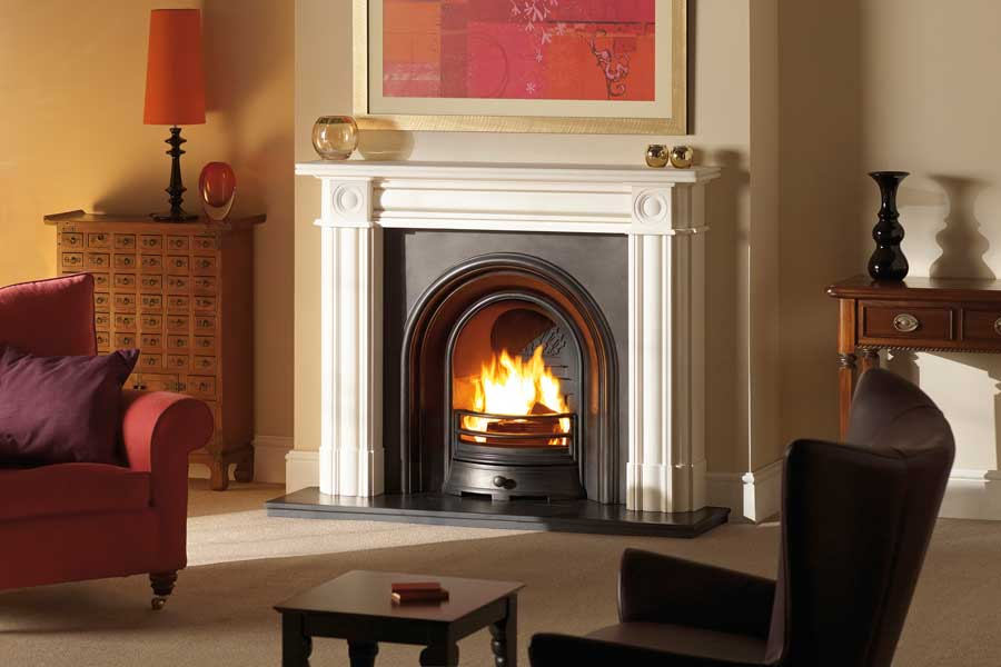 Regent Limestone Mantel with Arched Insert Sussex Fireplace Gallery