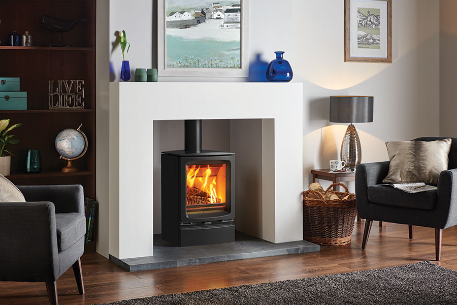 Vogue Woodburner with Optional Plinth Sussex Fireplace Gallery