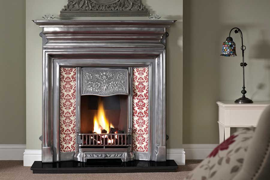 Langley Polished Tiled Combination Sussex Fireplace Gallery
