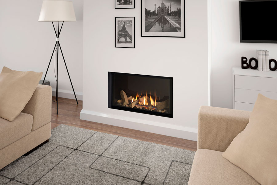 Infinity 780FL with Black Glass Liner at Sussex Fireplace Gallery