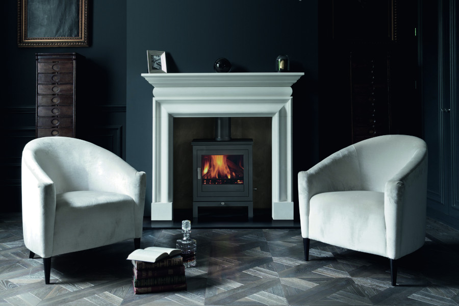 Shoreditch 8 series multi fuel stove Sussex Fireplace Gallery