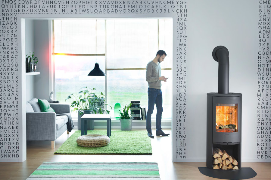 Contura 510 style - Black tube Sussex Fireplace Gallery