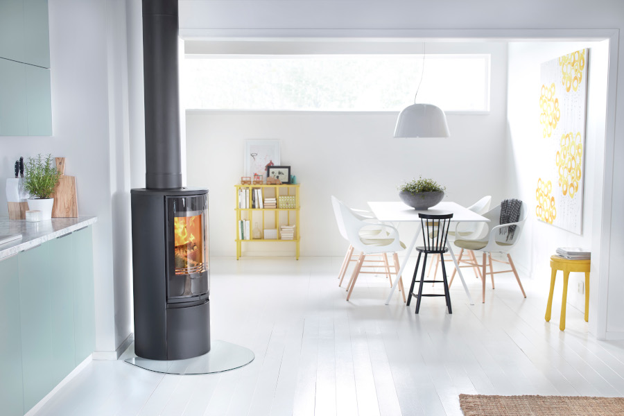 Contura 510g style - Black chimney Sussex Fireplace Gallery