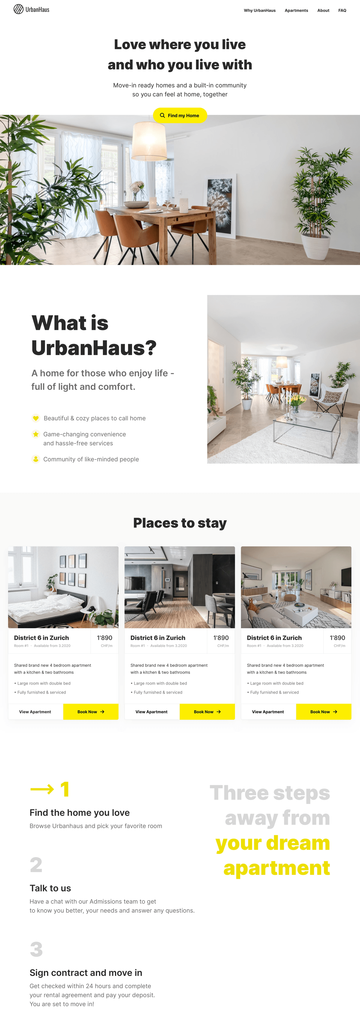 Branding, Website Design & Development for hassle-free living service
