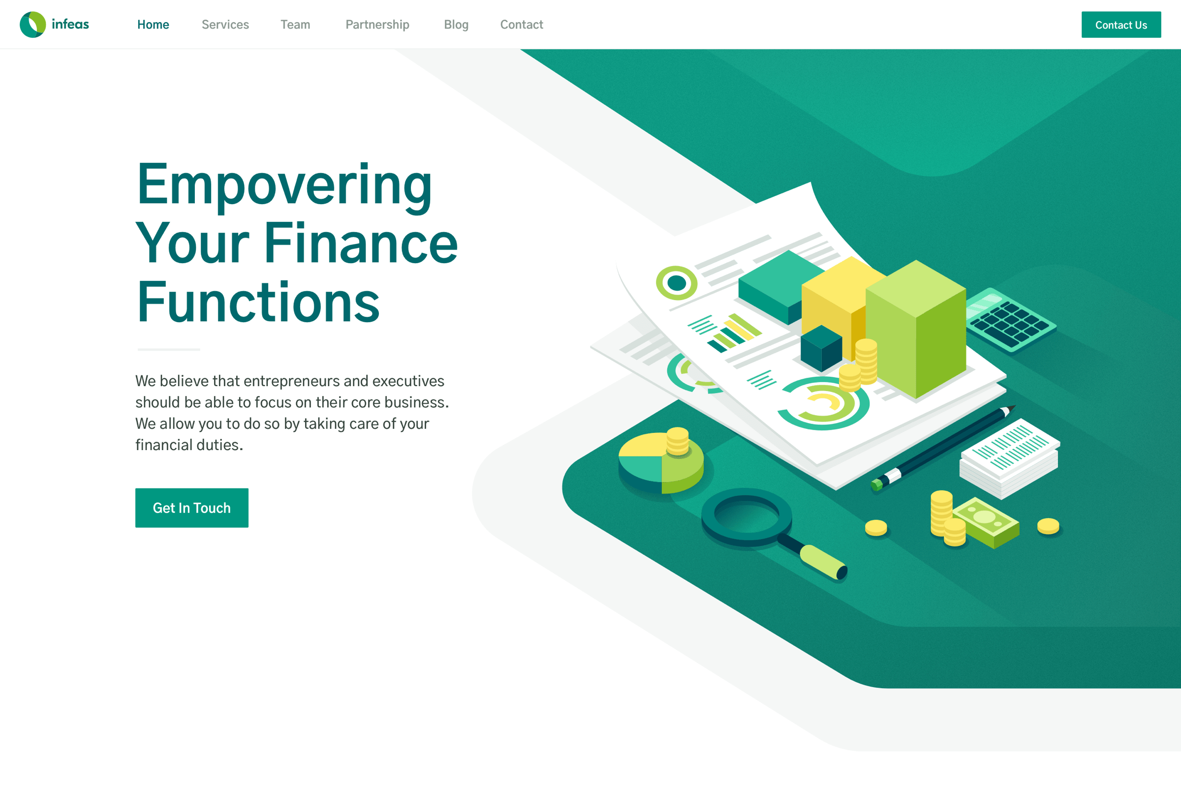 Website Design and Development for accounting service