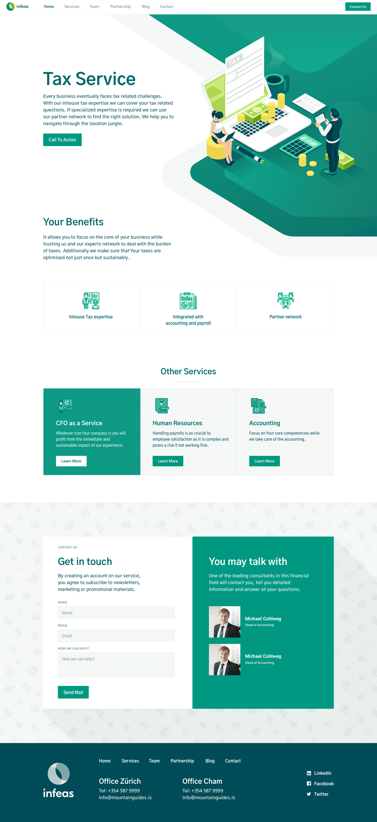 Website Design and Development for finance controlling service