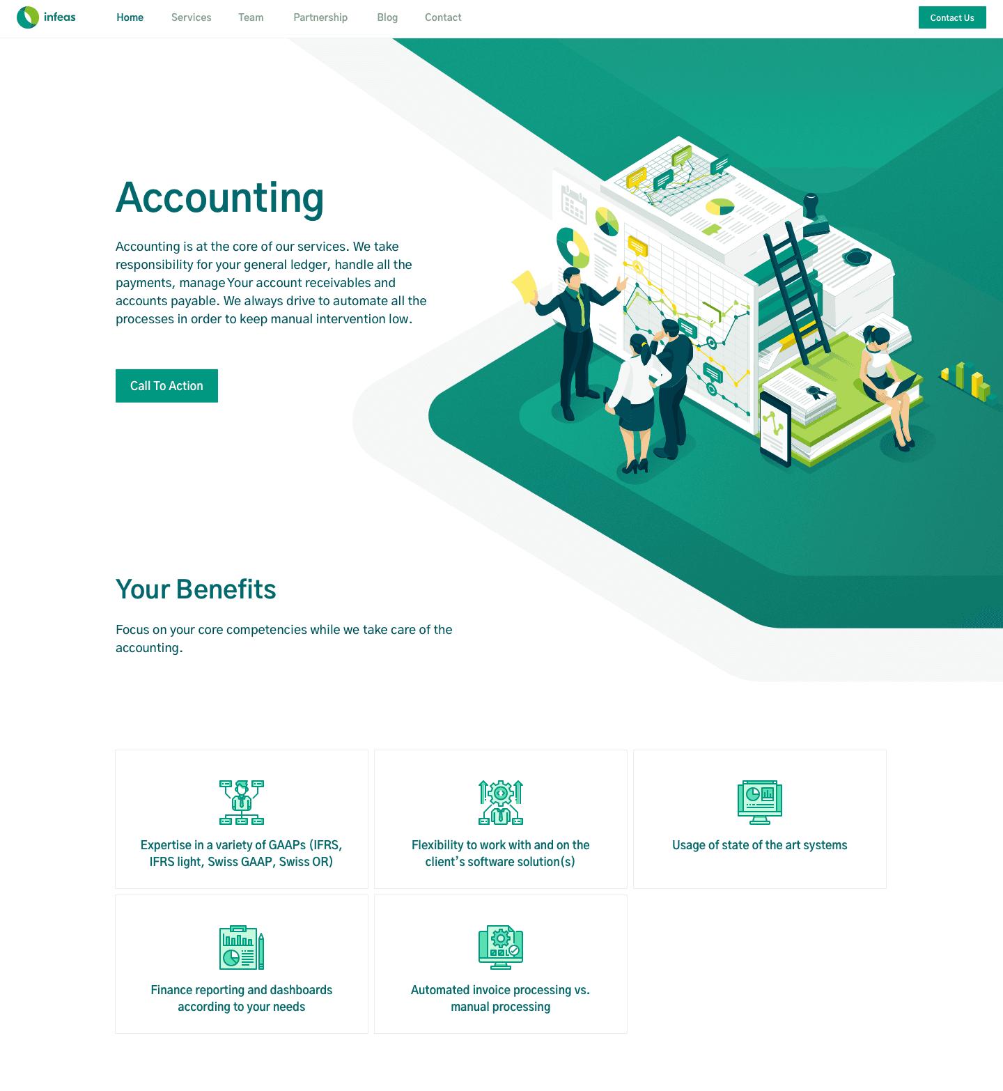 Webflow Development for finance controlling service