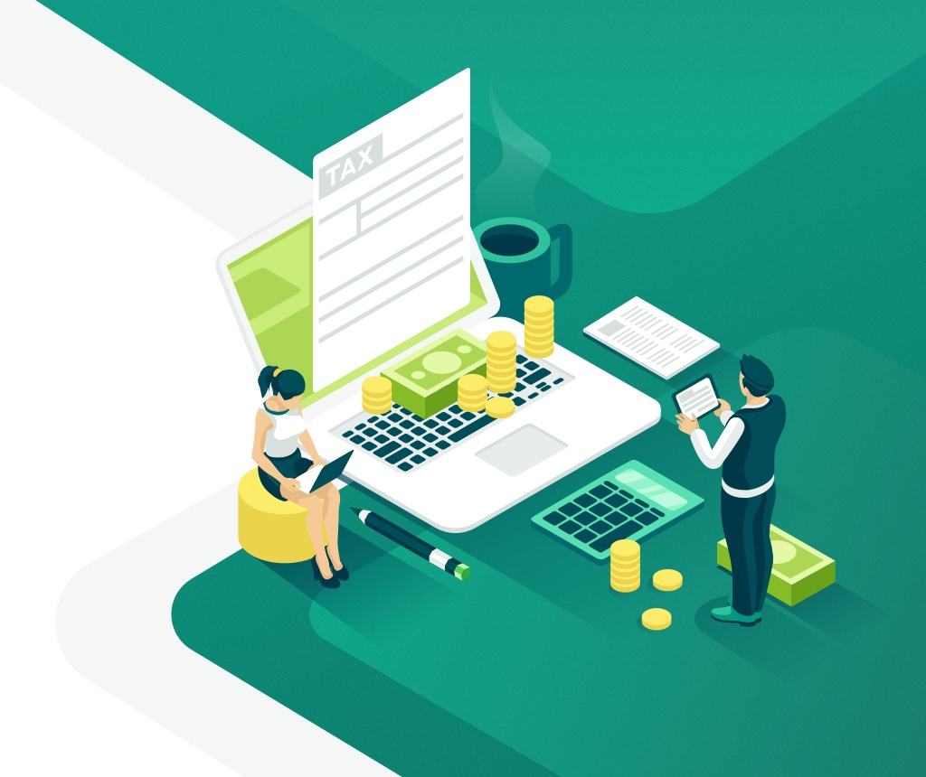 illustration design finance and counting
