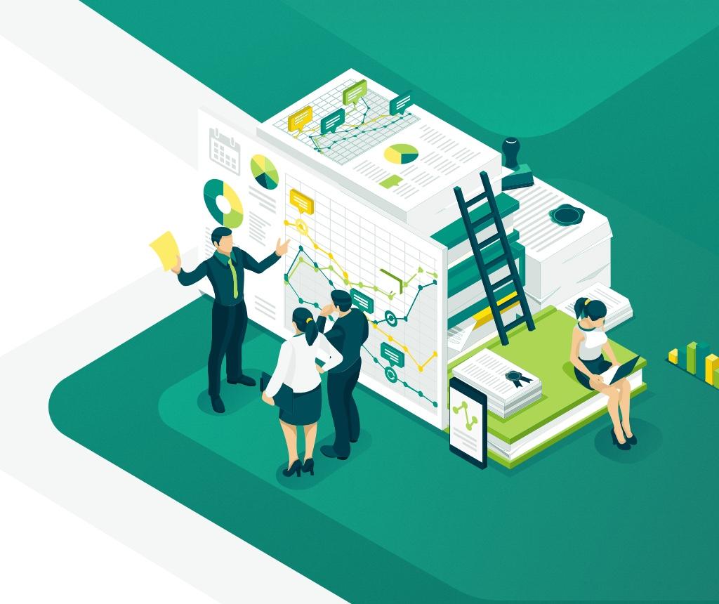 illustration design finance and bank development