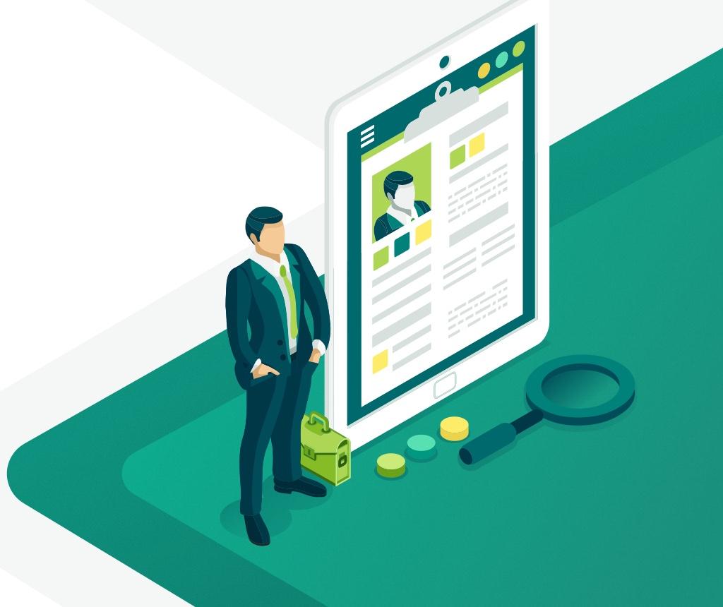 illustration design finance and bank client