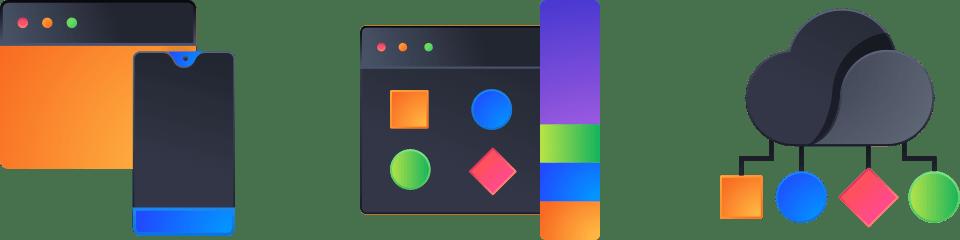 Dark 3D Icons Pack Design