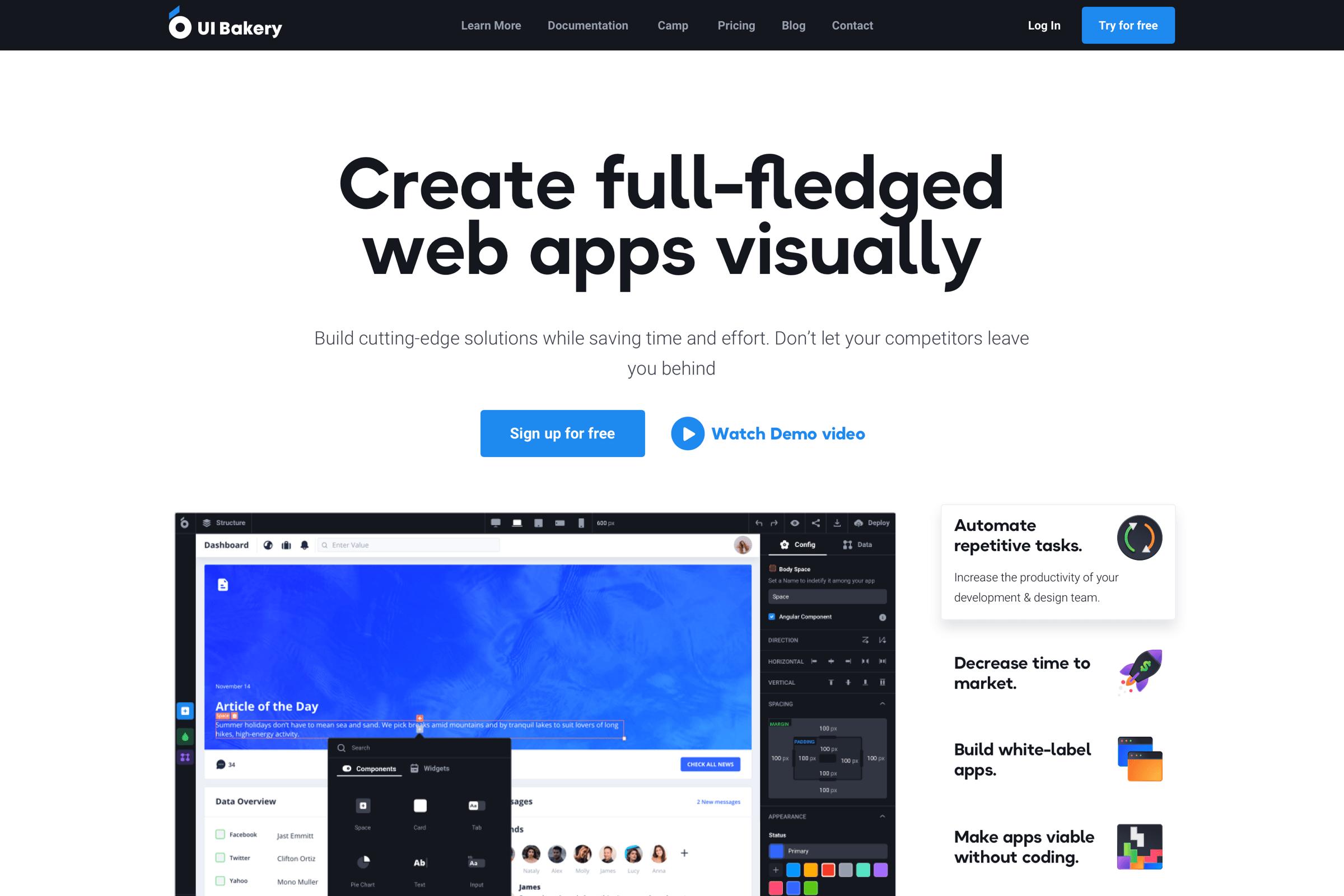 Website design and development for UI Builder