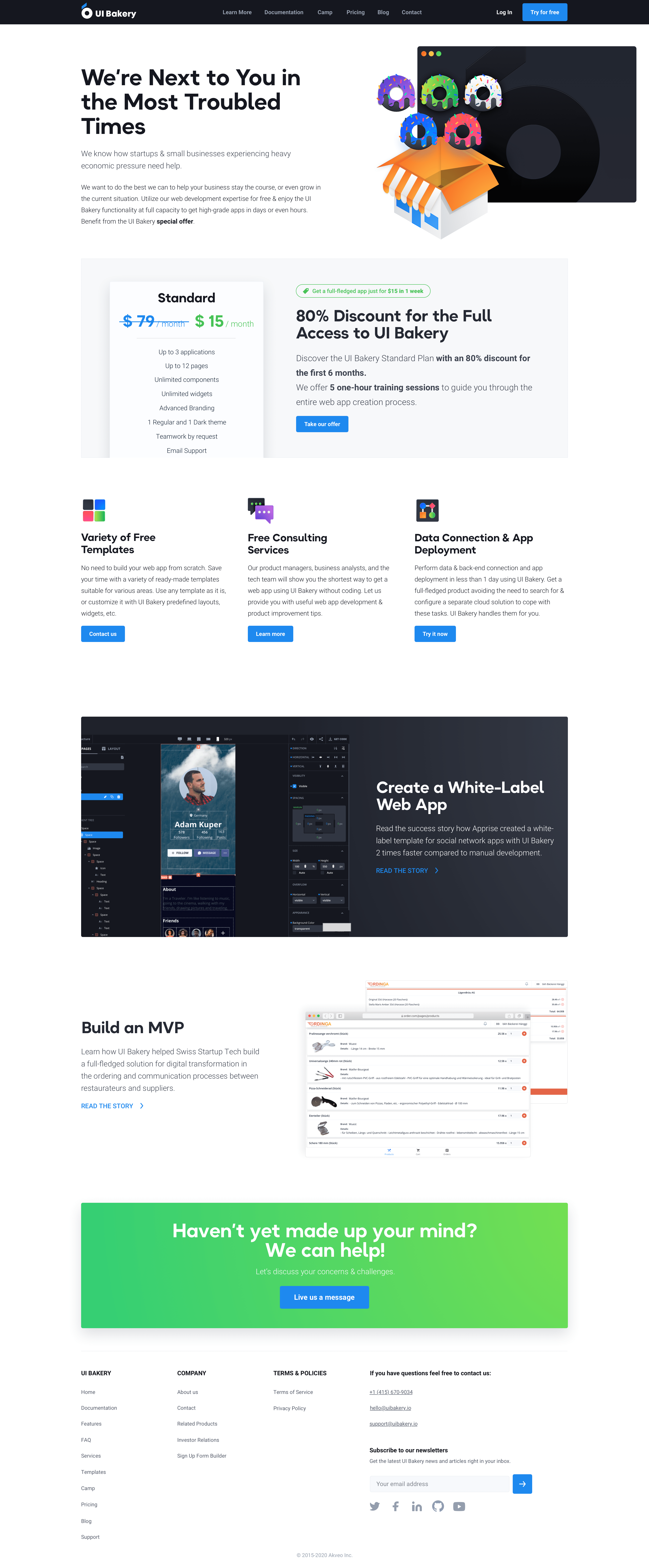 Website design and low code development for UI Builder