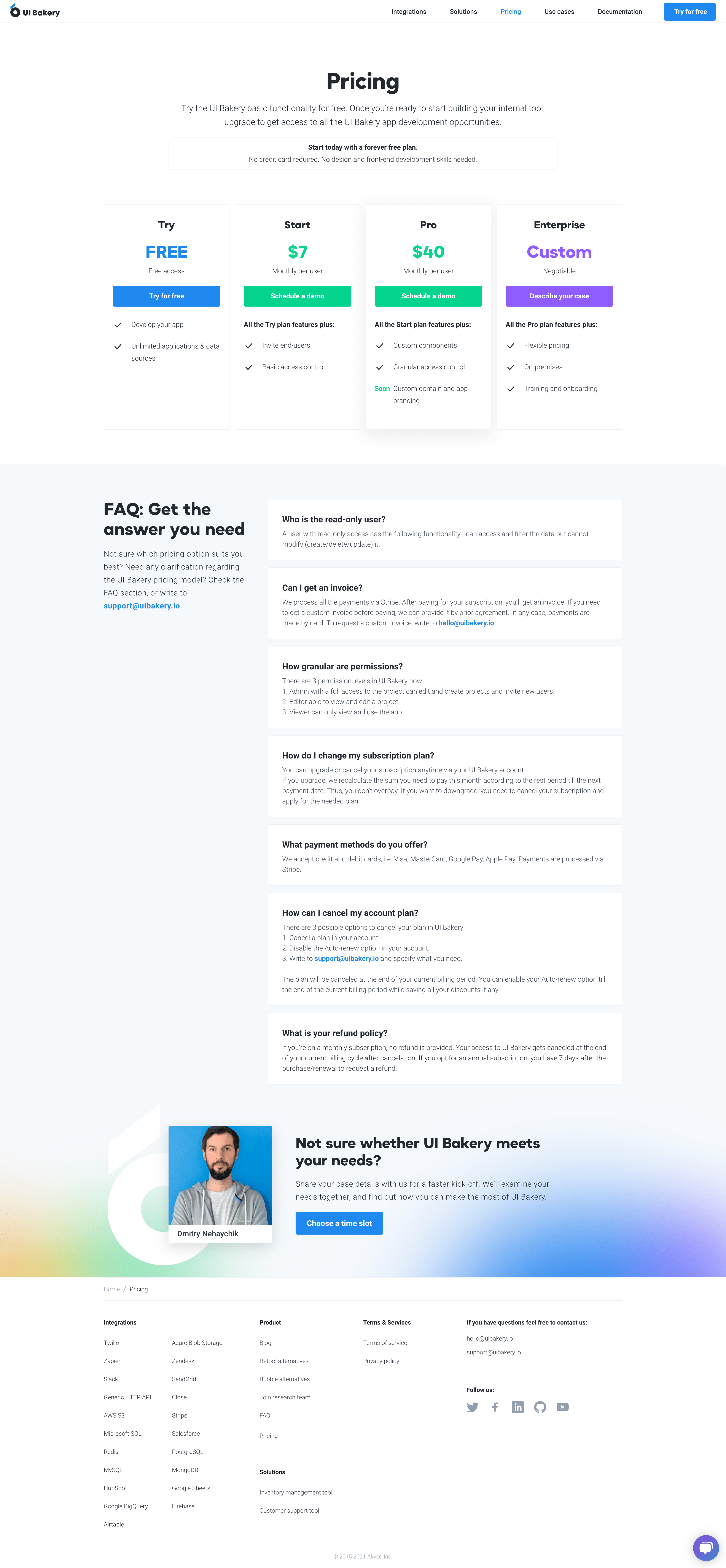 Dark Website design and low code development for UI Builder