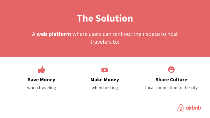 AirBnB solution slide redesign in coporate colors