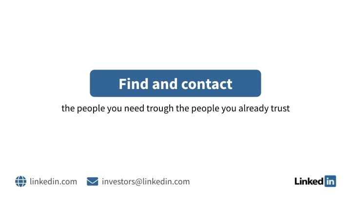 LinkedIn contact slide in corporate design