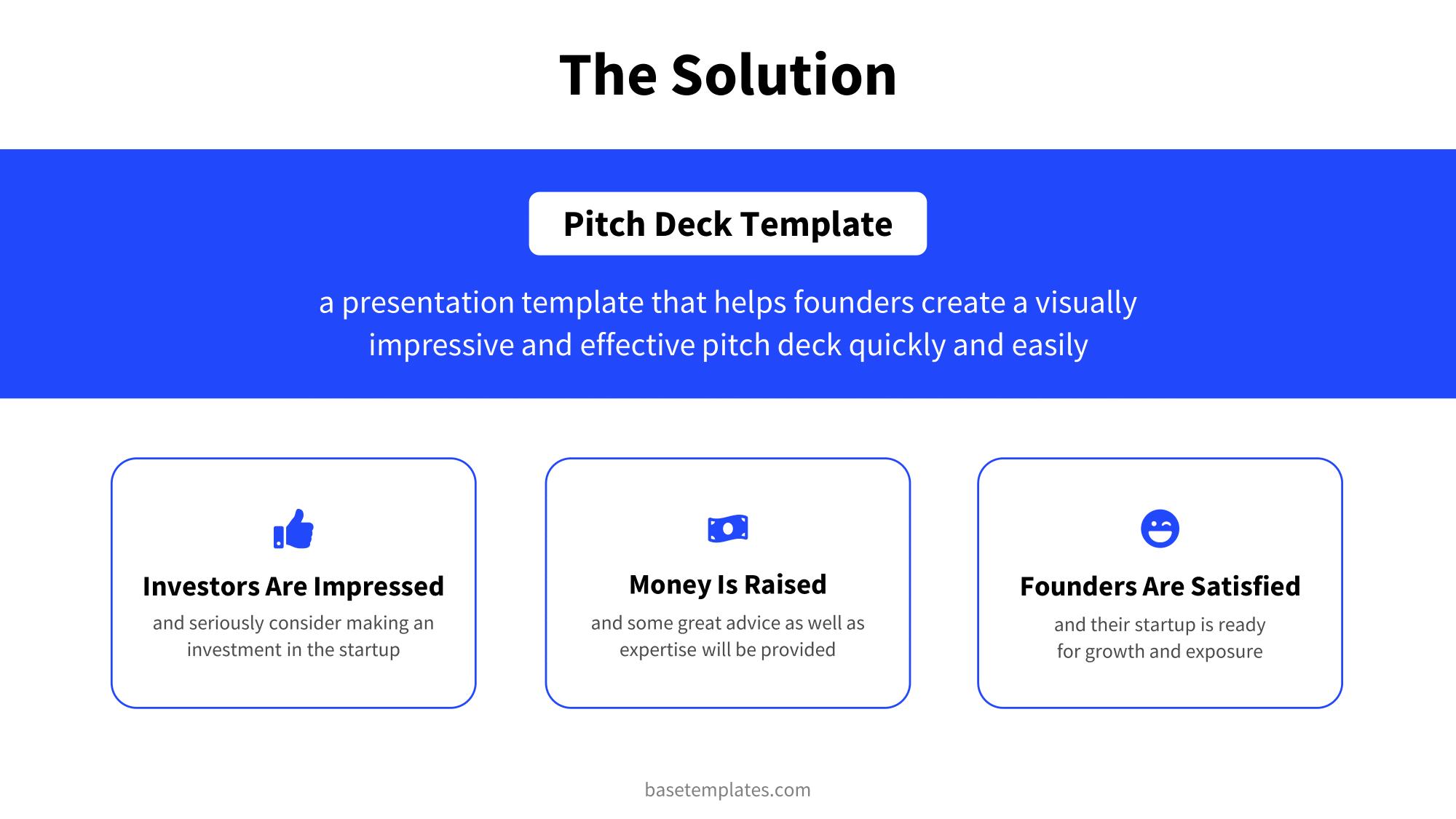 Solution slide in clean blue design