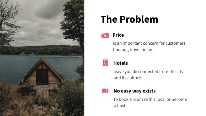 AirBnB problem slide redesign