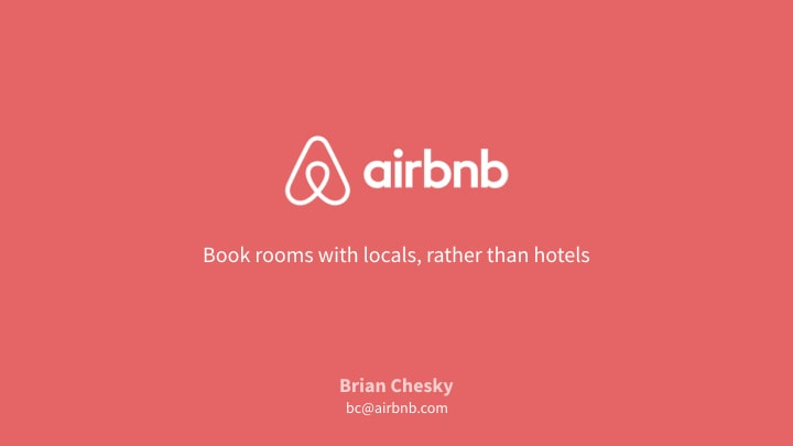 Airbnb title slide red version with catchy headline