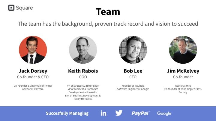 Square team slide redesign