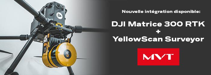 Les systèmes LiDAR YellowScan maintenant compatibles avec le DJI M300 RTK !
