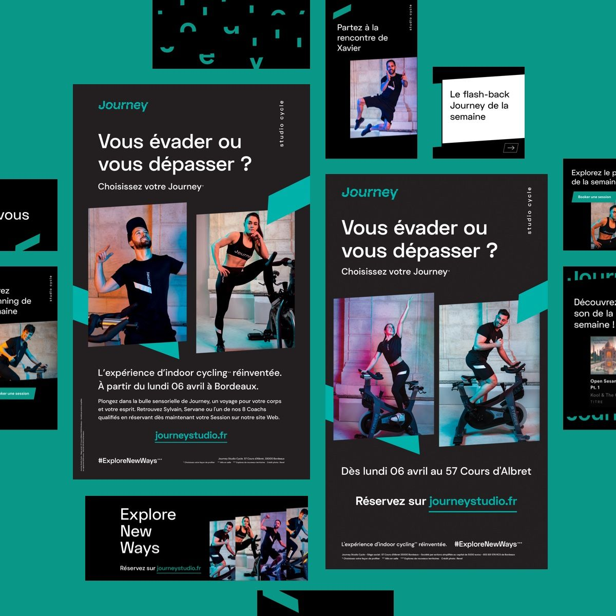Extraits de visuels issus de la campagne de communication Journey