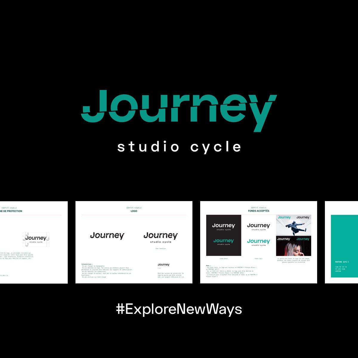 Extrait du brandbook créé pour l'identité visuelle de Journey