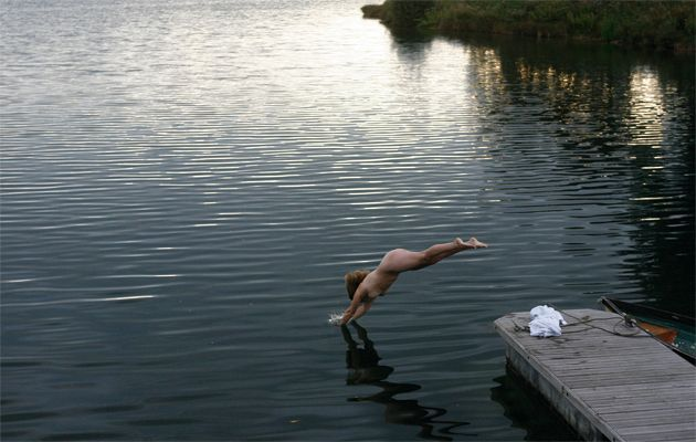 wild swimming naked skinny dipping