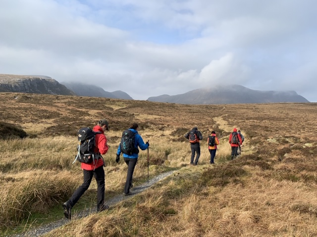 group of hikers on the cape wrath trail