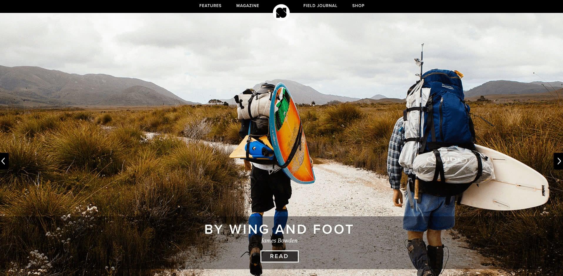 Sidetracked magazine website