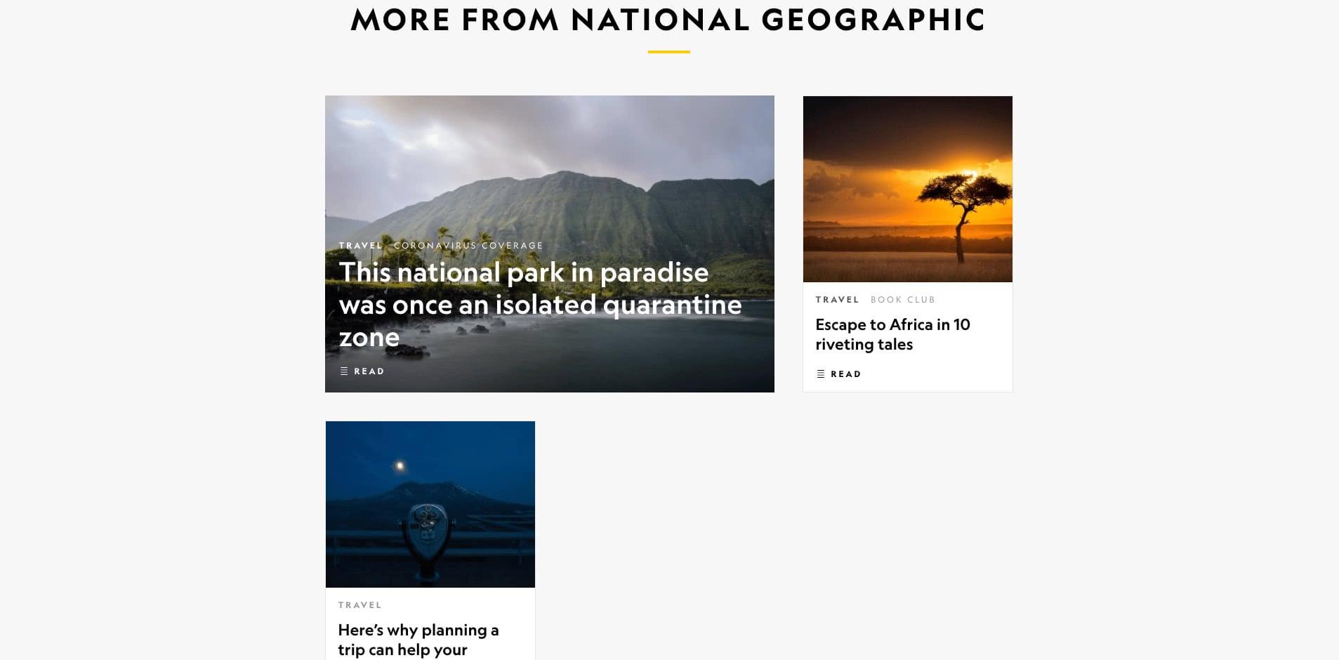 NatGeo National Geographic website