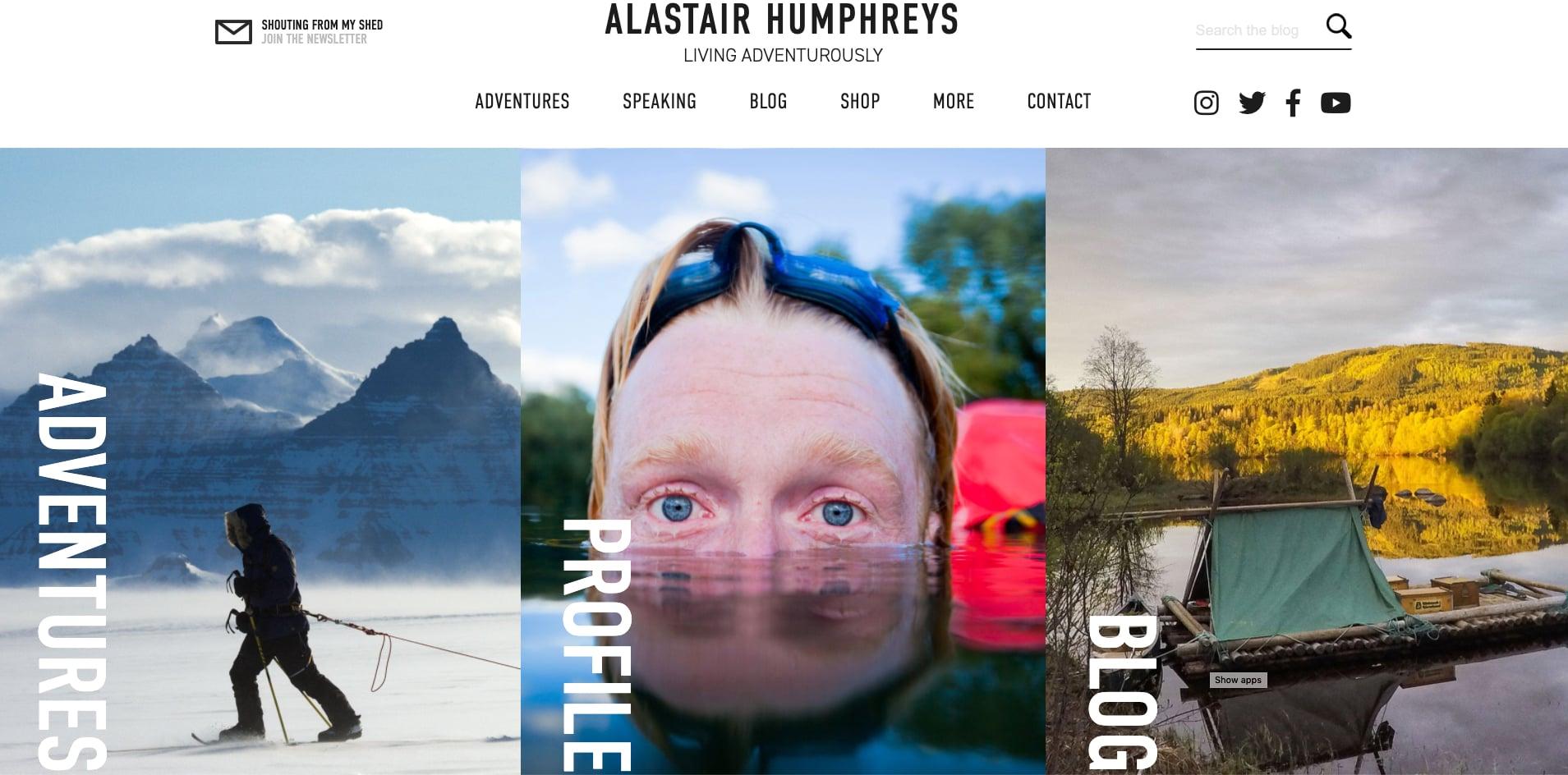 Alastair Humphreys website