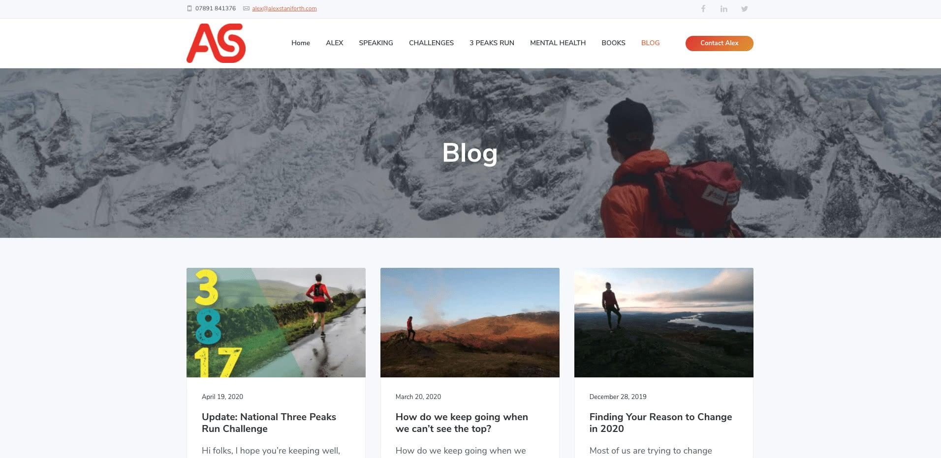 Alex Stainforth blog