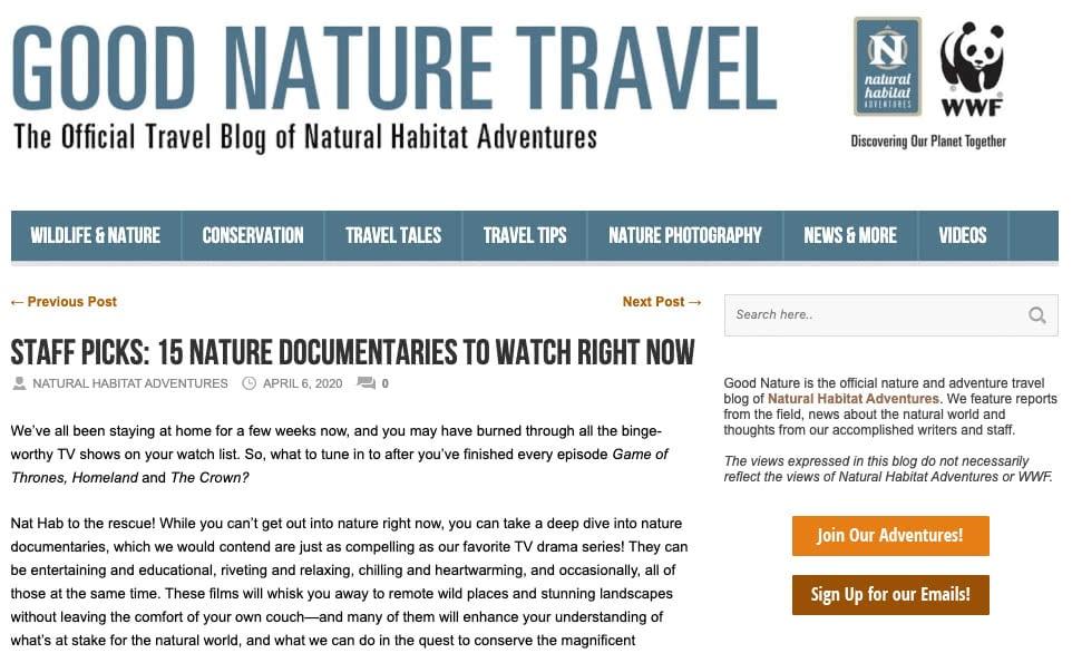 Good Nature blog