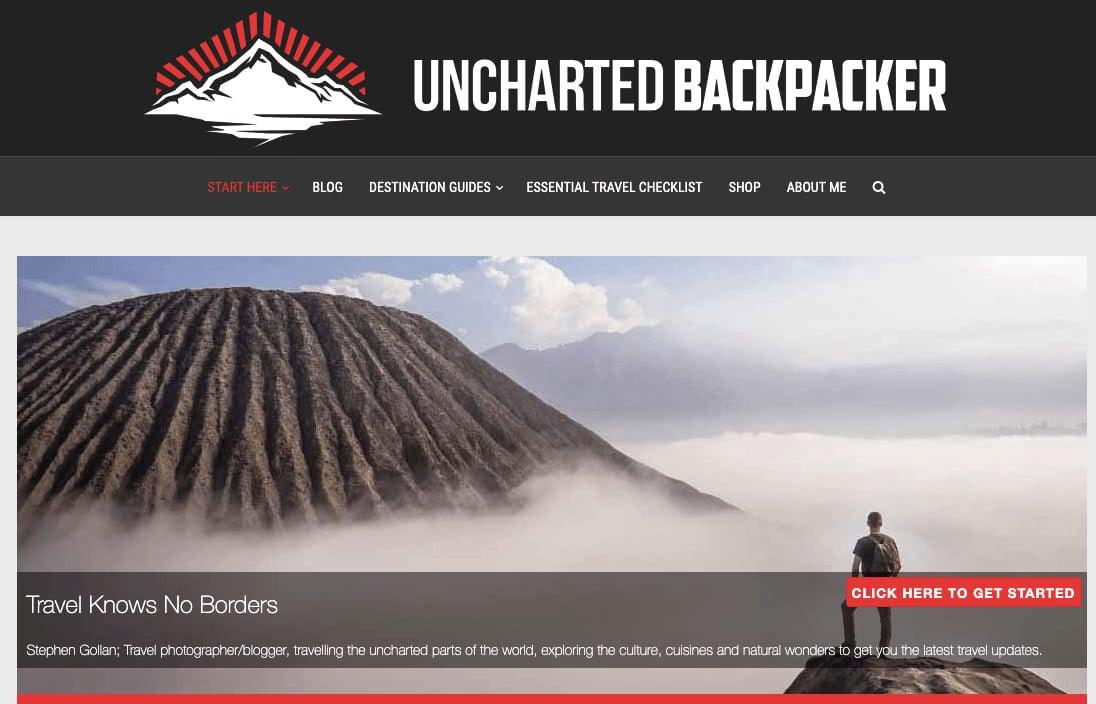 Unchartered backpacker