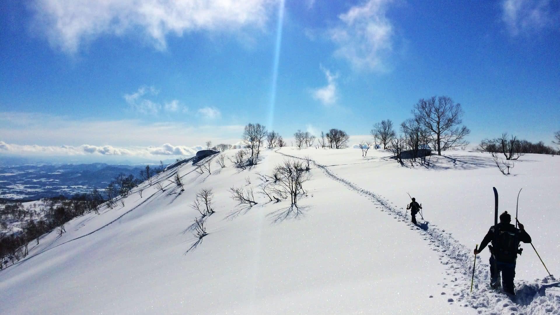 ski touring japan volcano