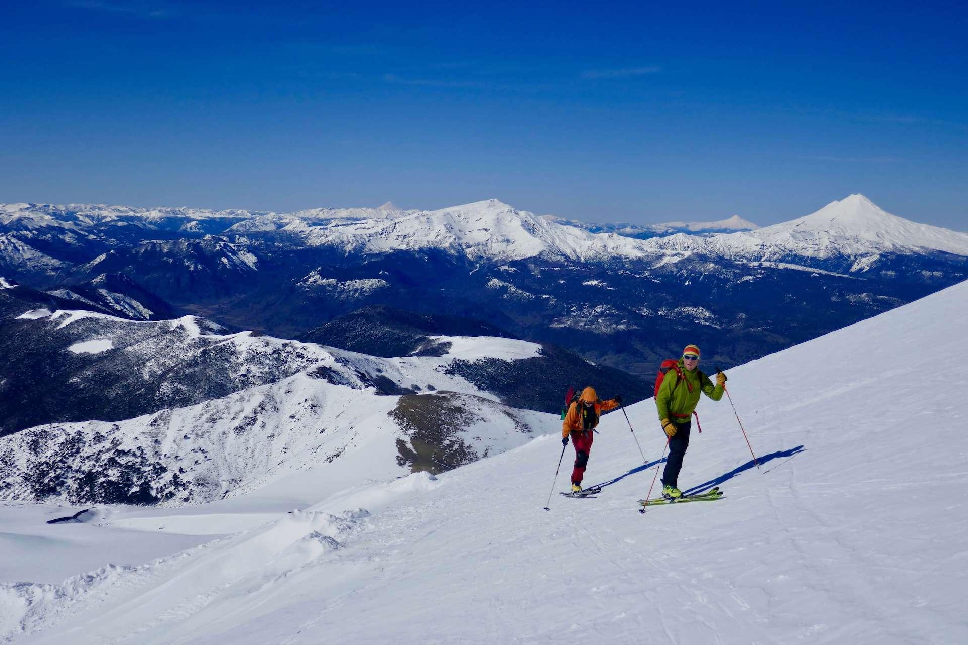 skiing argentina volcano