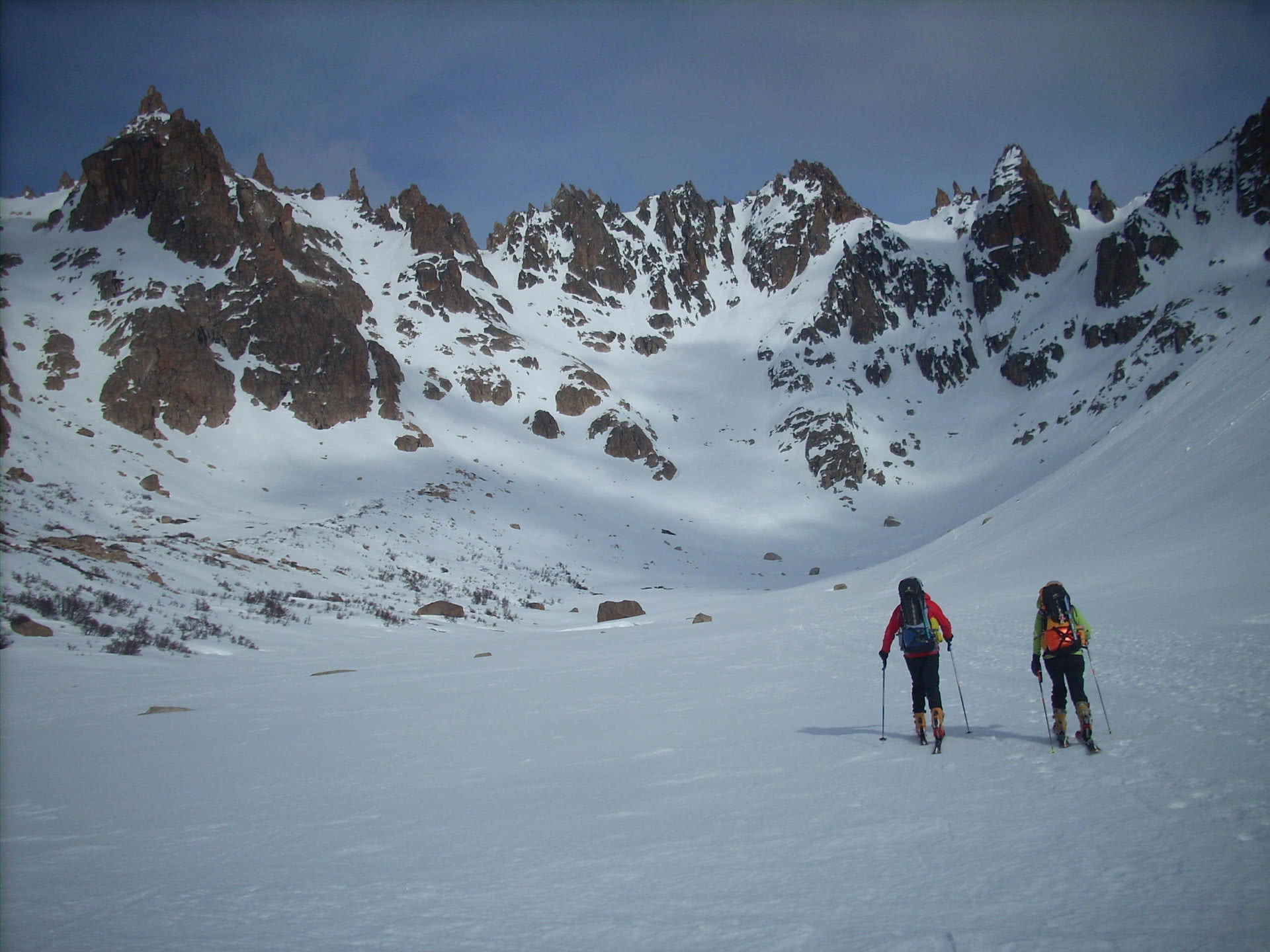 Ski touring Refugio Frey area