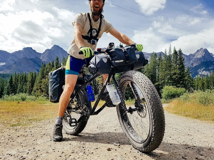 Surly fat bikes with bikepacking bags - great for mountain biking