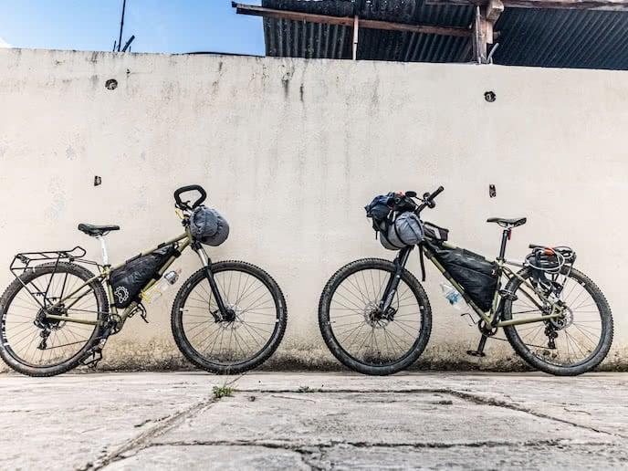 Bikepacking bike with bikepacking bags - no seat bag