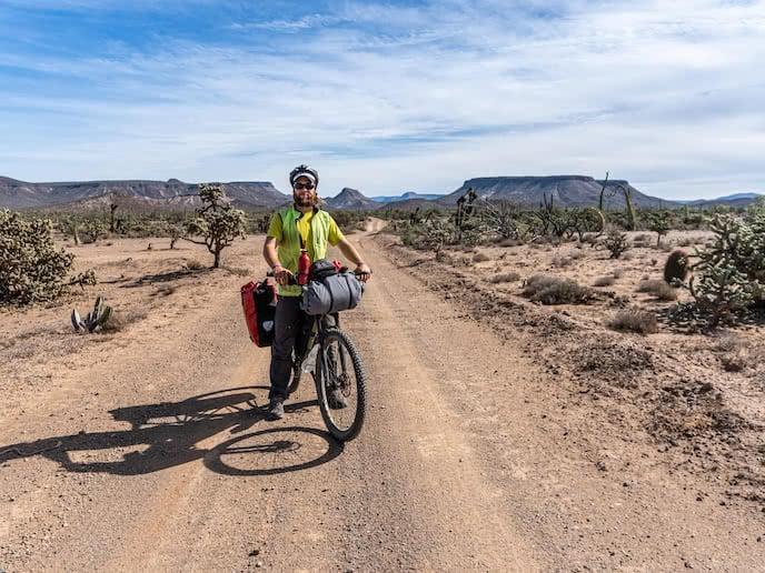 bikepacking baja divide on mountain bike