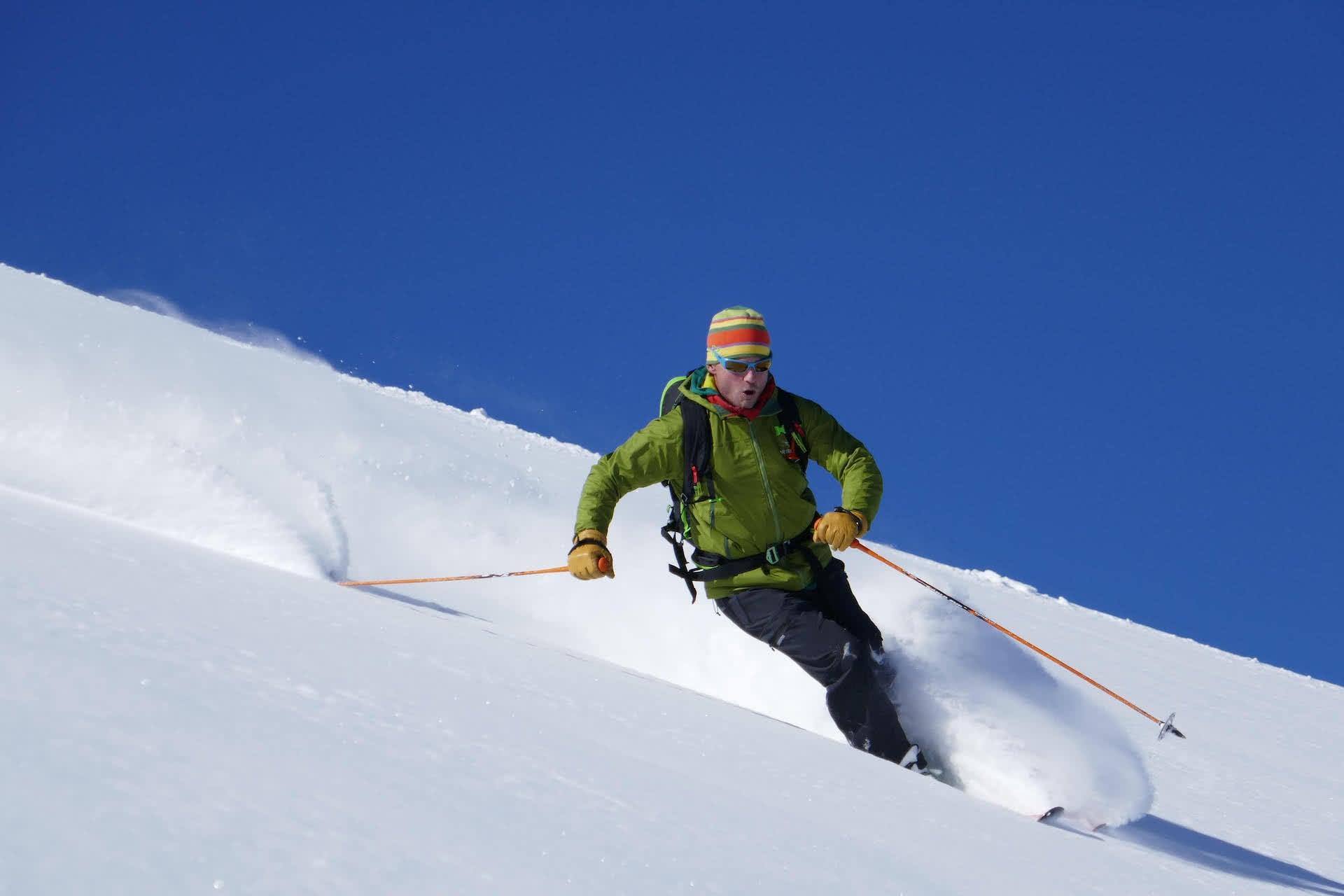 Kyrgyzstan skiing off piste