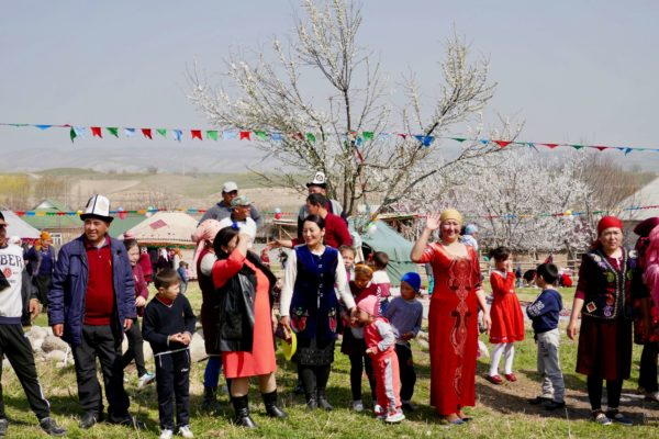 local people at village fete Kyrgyzstan