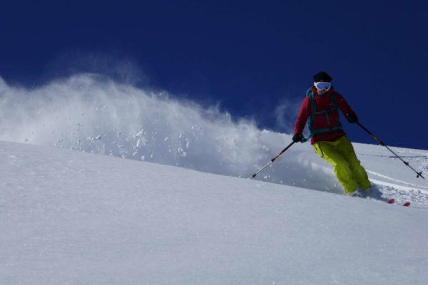 powder skiing Kyrgyzstan
