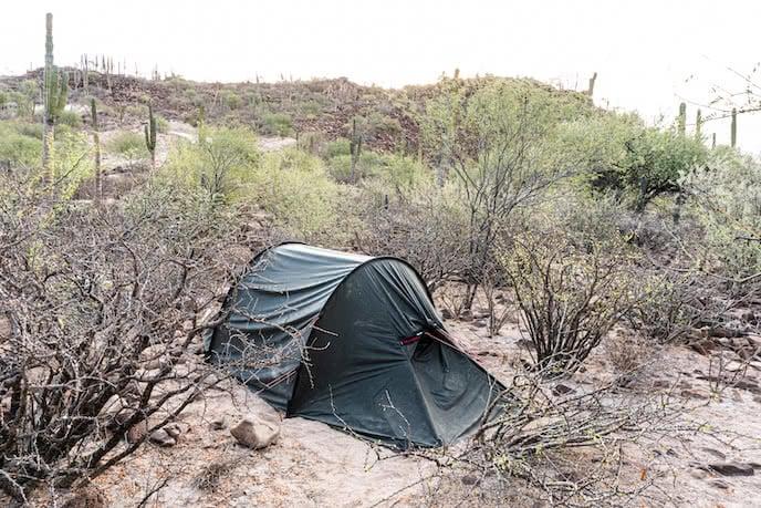 Wild camping mexico hilleberg