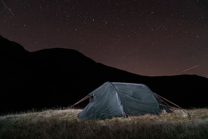 winter wild camping lake district