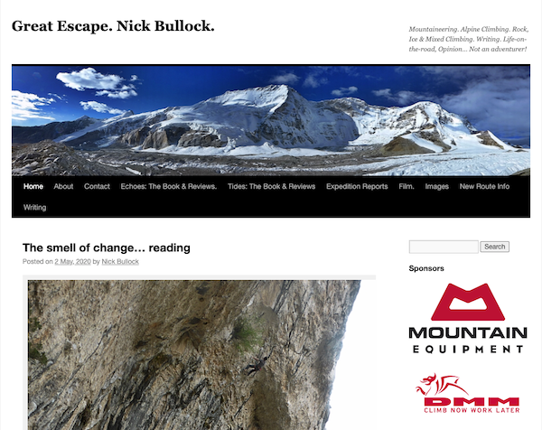 Great Escape Nick Bullock blog