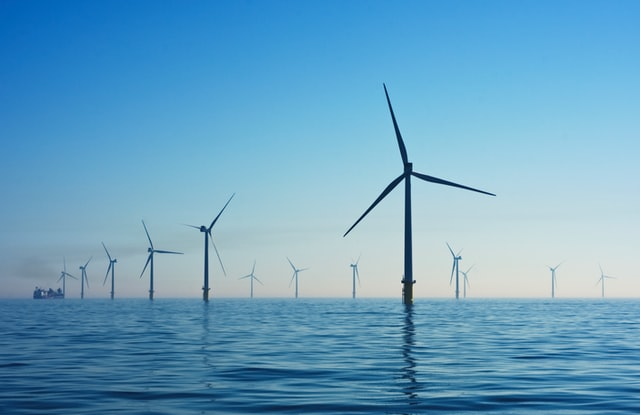 wind farm in the sea offset project